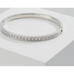 Bransoletki damskie na nogę: Ted Baker CLEMARA HINGE BANGLE Bransoletka silvercoloured/crystal