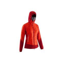 Kurtka alpinistyczna Hybrid damska. Czerwone kurtki damskie marki DOMYOS, z elastanu. Za 249,99 zł.