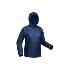 Kurtka turystyczna SH100 Warm męska. Niebieskie kurtki męskie skórzane marki QUECHUA, m. Za 79,99 zł.