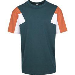 T-shirty męskie: Urban Classics 3-Tone Tee T-Shirt zielony/biały/pomarańczowy