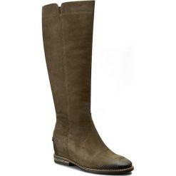 Kozaki CARINII - B3686 I43-000-POL-B89. Zielone buty zimowe damskie Carinii, z nubiku. W wyprzedaży za 309,00 zł.