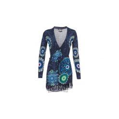 Swetry rozpinane / Kardigany Desigual  SIMONE. Niebieskie kardigany damskie Desigual, l. Za 395,10 zł.