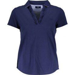 Bluzki damskie: Koszulka polo w kolorze ciemnoniebieskim