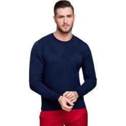 Sweter PIETRO SWGR000105. Czarne swetry klasyczne męskie marki Giacomo Conti, m, z bawełny, z klasycznym kołnierzykiem. Za 169,00 zł.