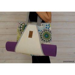 Torba z kieszenią na matę do jogi/ Mandala #1. Szare torebki klasyczne damskie Pakamera, z tkaniny. Za 219,00 zł.