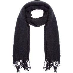 Czarny karbowany szal QUIOSQUE. Szare apaszki damskie marki B'TWIN, na zimę, z elastanu. W wyprzedaży za 49,99 zł.