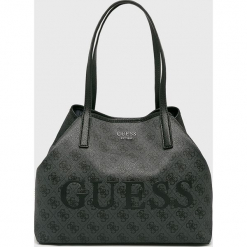 Guess Jeans - Torebka. Szare torebki klasyczne damskie Guess Jeans, z aplikacjami, z jeansu, duże. Za 589,90 zł.