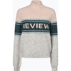 Review - Sweter damski, szary. Szare swetry klasyczne damskie Review, l, z dzianiny. Za 179,95 zł.