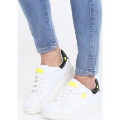 Biało-Limonkowe Buty Sportowe Friend Of Mine. Pomarańczowe buty sportowe damskie marki Born2be, z materiału. Za 79,99 zł.