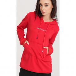 Czerwona Bluza Tension. Czerwone bluzy z kapturem damskie other, l. Za 74,99 zł.