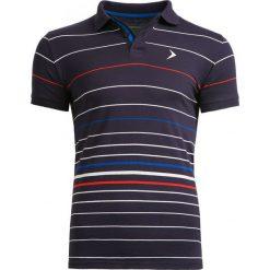 Koszulka polo męska TSM605 - multikolor - Outhorn. Czarne koszulki polo Outhorn, na lato, m, z bawełny. W wyprzedaży za 39,99 zł.