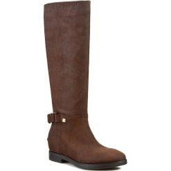 Kozaki LIU JO - Stivale Alto Bessie S64195 P0124 Dark Coffee 91314. Brązowe buty zimowe damskie Liu Jo, z nubiku, na wysokim obcasie. W wyprzedaży za 499,00 zł.