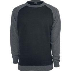 Urban Classics 2-Tone Raglan Crewneck Bluza czarny/ciemnoszary. Niebieskie bluzy męskie marki Urban Classics, l, z okrągłym kołnierzem. Za 144,90 zł.