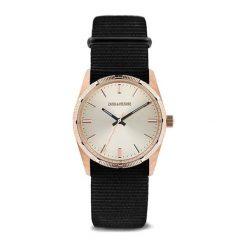 """Zegarki męskie: Zegarek """"ZVF207"""" w kolorze czarno-różowozłotym"""