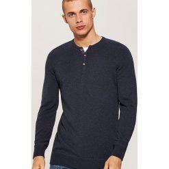 Sweter z guzikami - Granatowy. Niebieskie swetry klasyczne męskie marki QUECHUA, m, z elastanu. Za 79,99 zł.