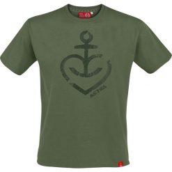T-shirty męskie: Astra Heart Anchor T-Shirt oliwkowy