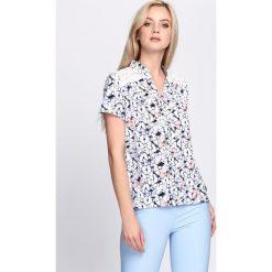 Bluzki asymetryczne: Biało-Granatowa Bluzka Dicentra