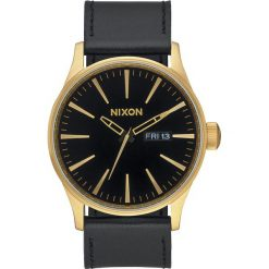Zegarki męskie: Zegarek męski Nixon Sentry Leather Gold Black A1051513