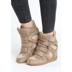Beżowe Sneakersy Tolerable. Brązowe sneakersy damskie Born2be, z materiału. Za 99,99 zł.
