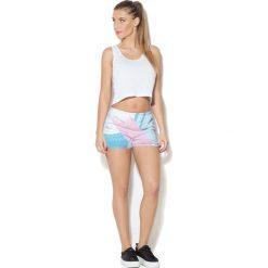 Spodnie damskie: Colour Pleasure Spodnie damskie CP-020 27 biało-niebieskie r. XS/S