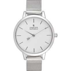 Zegarek kwarcowy w kolorze srebrno-białym. Szare, analogowe zegarki damskie Stylowe zegarki, ze stali. W wyprzedaży za 136,95 zł.