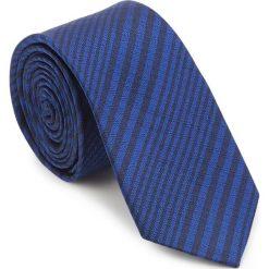 Krawat 87-7K-002-7. Czarne krawaty męskie marki Wittchen, w paski, z bawełny. Za 149,00 zł.
