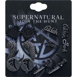 Supernatural Symbols Kolczyki - Earpin wielokolorowy. Czarne kolczyki damskie Supernatural. Za 62,90 zł.