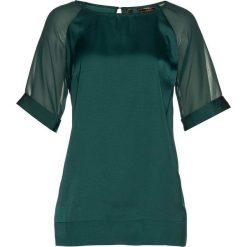 Tunika satynowa bonprix głęboki zielony. Brązowe tuniki damskie marki DOMYOS, xs, z bawełny. Za 79,99 zł.