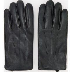 Rękawiczki skórzane - Czarny. Czarne rękawiczki męskie Reserved. Za 119,99 zł.