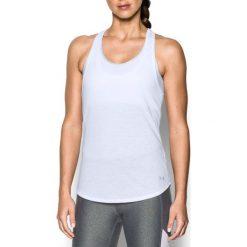Topy sportowe damskie: Under Armour Koszulka damska Threadborne Run Mesh Tank biała r. XS (1294520-102)