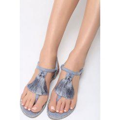 Niebieskie Sandały Try Your Luck. Niebieskie sandały damskie marki vices, na płaskiej podeszwie. Za 34,99 zł.