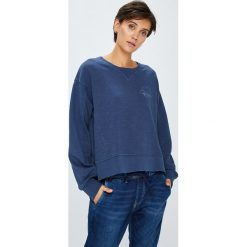 Pepe Jeans - Bluza. Niebieskie bluzy damskie marki Pepe Jeans, l, z bawełny, bez kaptura. W wyprzedaży za 199,90 zł.