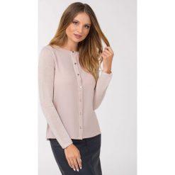 Swetry rozpinane damskie: Elegancki sweter z połyskującą nitką