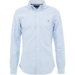 Polo Ralph Lauren OXFORD SLIM FIT Koszula blue. Szare koszule męskie slim marki Polo Ralph Lauren, l, z bawełny, button down, z długim rękawem. Za 419,00 zł.