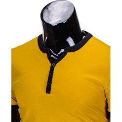 T-SHIRT MĘSKI BEZ NADRUKU S651 - ŻÓŁTY. Żółte t-shirty męskie z nadrukiem marki Ombre Clothing, m. Za 29,00 zł.