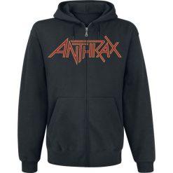 Bejsbolówki męskie: Anthrax Devil Hoodie Bluza z kapturem rozpinana czarny