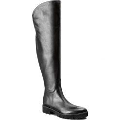 Muszkieterki BADURA - 9333-69-M Czarny 124. Czarne buty zimowe damskie Badura, z materiału, przed kolano, na wysokim obcasie. W wyprzedaży za 469,00 zł.