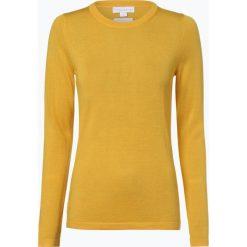 Brookshire - Damski sweter z wełny merino, żółty. Czarne swetry klasyczne damskie marki brookshire, m, w paski, z dżerseju. Za 179,95 zł.