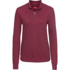 Bluza z zamkiem, długi rękaw bonprix purpurowy. Fioletowe bluzy rozpinane damskie bonprix, z długim rękawem, długie. Za 54,99 zł.