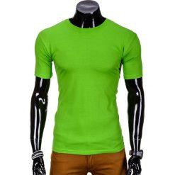Koszulki męskie: T-SHIRT MĘSKI BEZ NADRUKU S620 - JASNOZIELONY