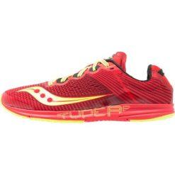 Saucony TYPE A Obuwie do biegania startowe red/citron. Czerwone buty do biegania męskie Saucony, z materiału. W wyprzedaży za 391,20 zł.