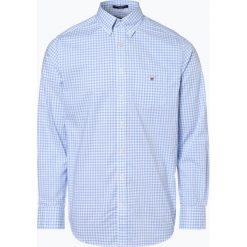 Gant - Koszula męska, niebieski. Niebieskie koszule męskie na spinki GANT, l, w kratkę, z bawełny, z klasycznym kołnierzykiem. Za 379,95 zł.