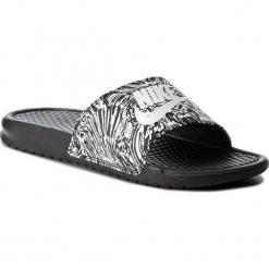 Klapki NIKE - Benassi Jdi Print 631261 006 Black/Summit White. Czarne chodaki męskie Nike, z materiału. Za 129,00 zł.