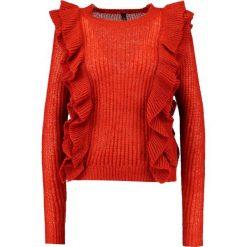 Swetry damskie: YAS YASLUCIA Sweter red ochre
