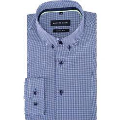 Koszula MICHELE KDWE000304. Niebieskie koszule męskie jeansowe marki Giacomo Conti, m, w kratkę, button down. Za 259,00 zł.