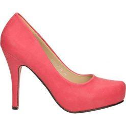 CZÓŁENKA CASU AH85602-24. Różowe buty ślubne damskie Casu, na koturnie. Za 69,99 zł.