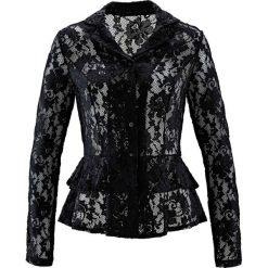 Bluzka koronkowa bonprix czarny. Czarne bluzki asymetryczne bonprix, w koronkowe wzory, z koronki. Za 149,99 zł.