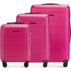 Zestaw walizek 56-3H-54S-60. Czerwone walizki marki Wittchen, z gumy. Za 499,41 zł.