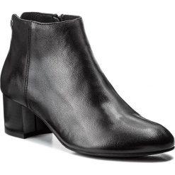 Botki NESSI - 878/N Czarny 31. Czarne buty zimowe damskie marki Nessi, z materiału, na obcasie. W wyprzedaży za 259,00 zł.
