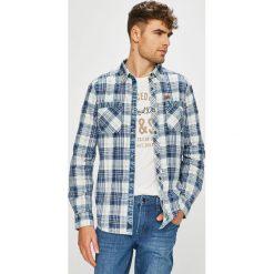 Tom Tailor Denim - Koszula. Szare koszule męskie na spinki marki TOM TAILOR DENIM, m, w kratkę, z bawełny, z klasycznym kołnierzykiem, z długim rękawem. Za 259,90 zł.